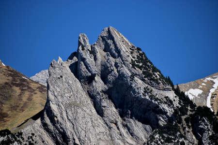 Unique scenery of the alps in Wildhaus in Switzerland 7.5.2020