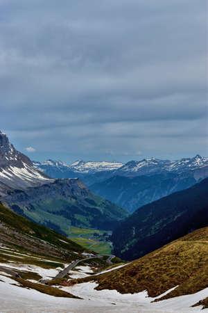 Road trip across the Klausenpass in Switzerland 8.5.2020