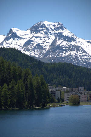 Adorable scenery at the lake of Saint Moritz in Switzerland 27.5.2020