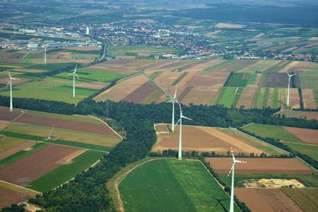 Wind turbine on a rural field near Vienna in Austria 12.9.2020