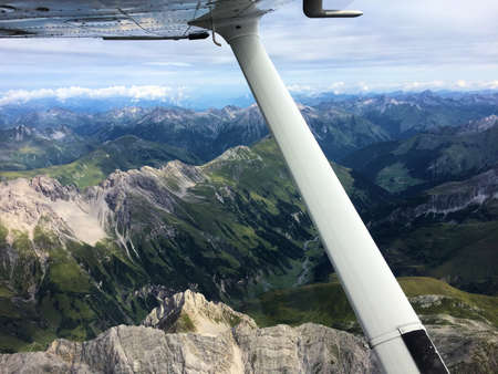 Flight over the mountains in Austria 21.8.2017