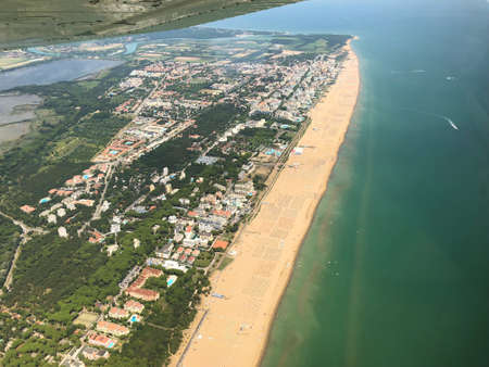 Beach in Italy seen from a small plane 29.7.2018