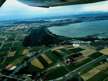 Flight over the lake of Neuchatel in Switzerland 30.7.2016