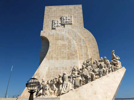 Monument of the discoveries in Santa Maria de Belem near Lisbon in Portugal 27.3.2019