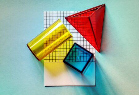 multi colored school class elementary shapes
