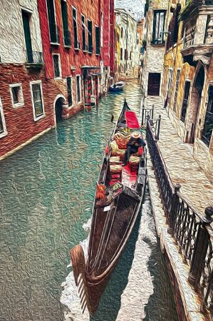 venice oil painting background 스톡 콘텐츠