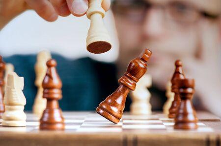 winning move chess game winner Stok Fotoğraf - 125219716