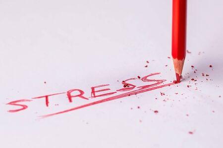 stress broken pencil white background 스톡 콘텐츠