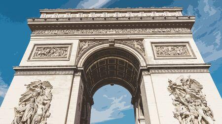 arc de triomphe arch architecture 스톡 콘텐츠