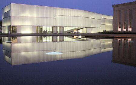 museum visit: Kansas City, Missouri - September 21, 2011: Bloch Building at Nelson-Atkins Museum of Art  Editorial