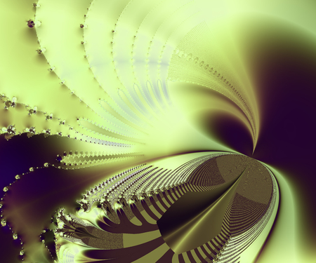 trippy: Abstract fractal image on green texture