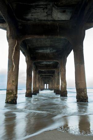 Manhattan Beach Peir Stok Fotoğraf
