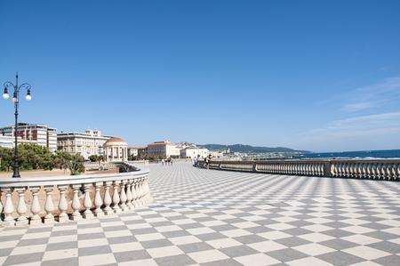 View of Terrazza Mascagni, Livorno, Tuscany, Italy