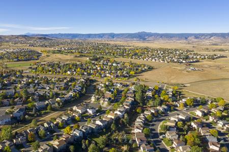 Suburban Neighborhood in Castle Rock Colorado - Urban Sprawl
