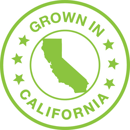 Grown In California Seal Stamp Çizim