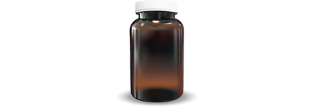 Blank AmberBrown Bottle Vector