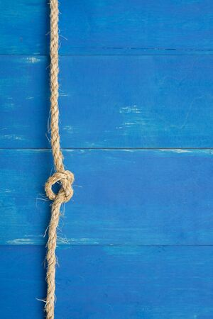 Rope in blue backround Stock Photo