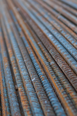 Rusted construction steel rods 스톡 콘텐츠
