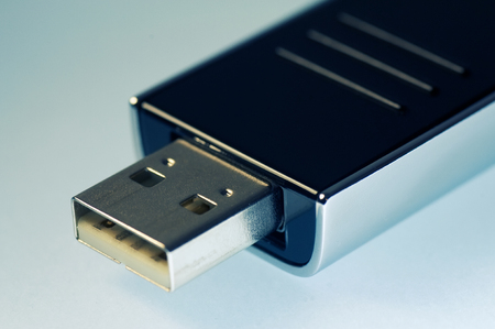 Close-up of USB flash drive