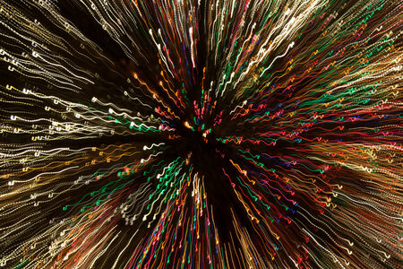 red, white, orange, blue, and green christmas tree lights creating a nice lighting effect