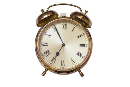 시계. 올드 테이블 골드 시계