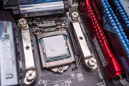 Replacement of thermal paste on processors, computer repair and PC improvement. components for the personal computer. computer system upgrade. Uzhhorod. Ukraine - June 22. 2020 Editorial