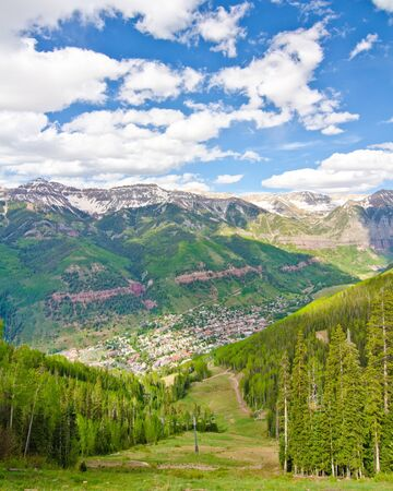 bluegrass: Telluride, Colorado, the Most Beautiful City in the USA Stock Photo