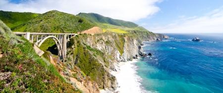 bixby: Bixby Bridge, the most photographed bridge along the Pacific Coast