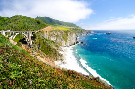Bixby Bridge, the most photographed bridge along the Pacific Coast  photo
