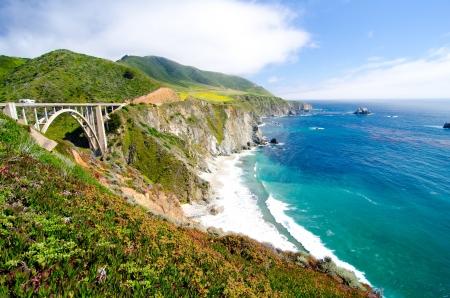 monterey: Bixby Bridge, the most photographed bridge along the Pacific Coast