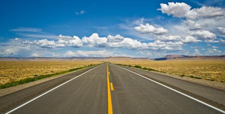four corners: Desert road near the Four Corners area, USA