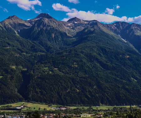 nger: Telfs im Stubaital, Tyrol, Austria Stock Photo