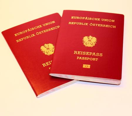 The new Austrian passport Closeup