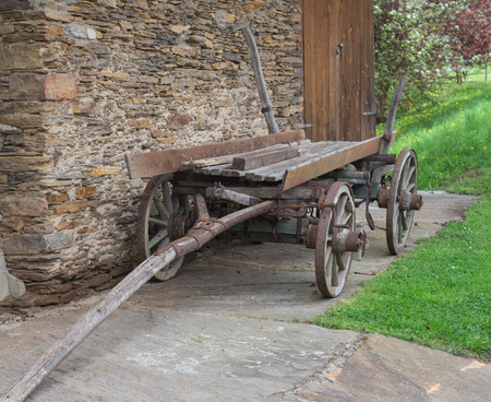 horse cart: Old horse cart in Styria, Austria