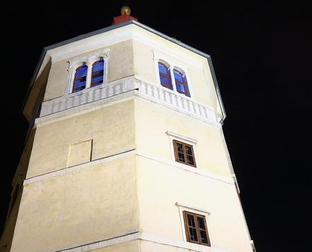Schlossberg in  Graz City of Austria at Night