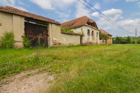 outdoor shot: Abandoned village romania,outdoor shot