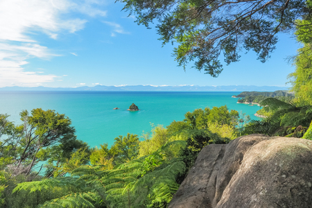 Pinnacle Island, Abel Tasman National Park. (New Zealand) Stock Photo - 84872521