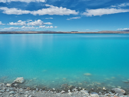 Lake Pukaki - Turquoise color - Reflection - New Zealand
