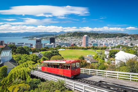 Wellington Cable Car, the landmark of New Zealand. Reklamní fotografie - 86788487
