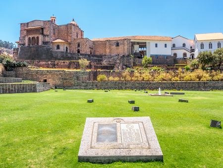 Qorikancha, temple of the sun, Convent Santo Domingo - Oct 6, 2017 - Cusco, Peru Editorial