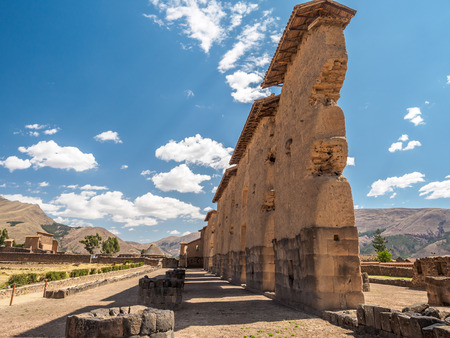Temple of Raqchi (Wiracocha), an Inca archaeological site located between Cusco and Puno. Stock Photo
