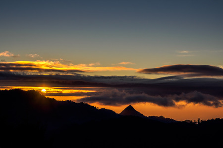 Sunset of Yuanzui Mountain from the Dasyueshan Visitor Center - Taichung, Taiwan