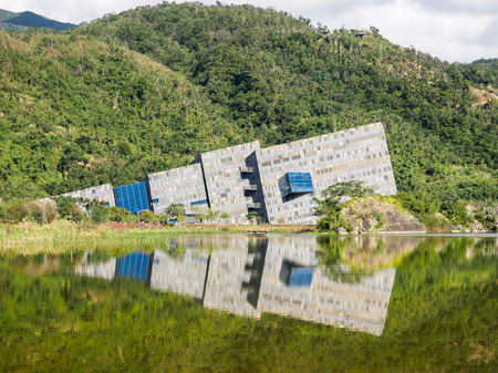 Langyang Museum with the stunning reflection is the landmark of Yilan, Taiwan. Editöryel