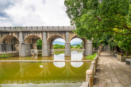 The Donan Old Bridge in Guanxi Township of Hsinchu County, Taiwan.