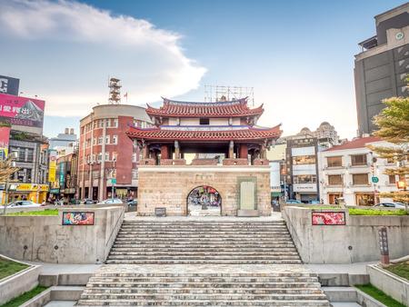 Hsinchu, Taiwan - Jul 19, 2018: Yin Hsi East Gate, the most important historic building in Hsinchu City.