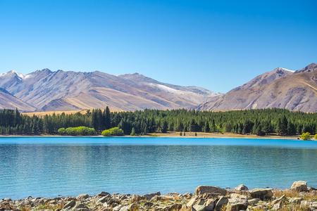 Lake Tekapo in New Zealand.