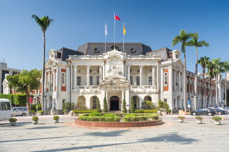Taichung, Taiwan - Nov 14, 2018: Taichung City Hall, the old building of the city government was constructed under Japanese rule.