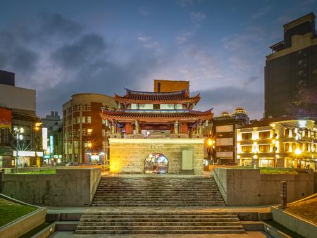 Yin Hsi East Gate at night in Hsinchu City, Taiwan. Stok Fotoğraf