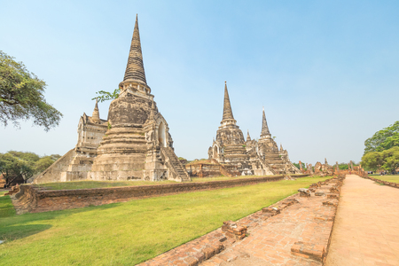 Wat Phra Si Sanphet, the old Royal Palace in Thailand's ancient capital of Ayutthaya City.