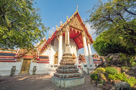 Wat Pho, the temple of the the Reclining Buddha in Bangkok, Thailand. Stok Fotoğraf